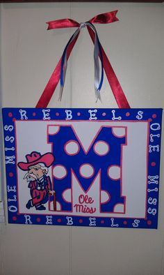 Ole Miss canvas by Tara