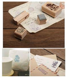 Alice in Wonderland stamp set in tin