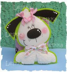 MOLDES DE E.V.A E FELTRO DA JUJU : moldes variados Foam Crafts, Diy And Crafts, Crafts For Kids, Arts And Crafts, Paper Crafts, Dog Cards, Art N Craft, Cartoon Dog, Tole Painting