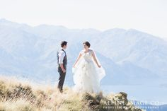 Beautiful bespoke wedding dress by #weddinggown designer Sally Eagle Bridal with http://www.alpineimages.co.nz/