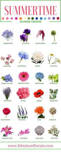 Spring & Summer Seasonal Flowers • How To DIY Wedding Flowers