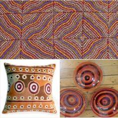 Sharon Butcher from Papunya at Tali Aboriginal Art Gallery