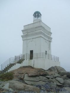 "Lighthouses of South Africa: Stompneusbaai LighthouseStompneusbaai (Blunt Nose Bay) is not a Lighthouse but a Lead Light. The area was bought to establish Shelly Point Estate and the owner who was a Lighthouse enthusiast built this structure. A seal was on the rocks near the ""Lighthouse."""