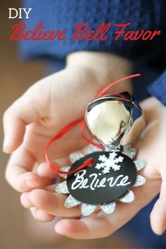 One of the most iconic parts from The Polar Express is the Christmas bell. It is said that if you can still hear the bell ringing, you truly believe in the magic of the holiday season. See how @sweetlychicdes incorporated Christmas bell favors into their Polar Express party, and get the DIY!