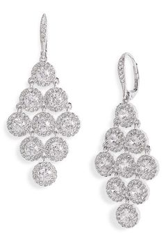 Nadri Kite Shaped Chandelier Earrings. They're so sparkly...