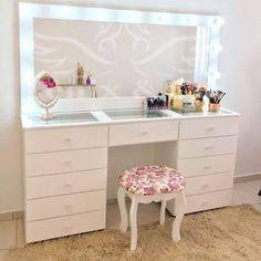 Bedroom Closet Design, Room Ideas Bedroom, Home Room Design, Kids Room Design, Bedroom Decor, Dressing Table Design, Vanity Room, Makeup Room Decor, Cute Room Decor