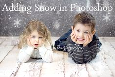 Adding Snow in Photoshop - Article includes free snow overlays