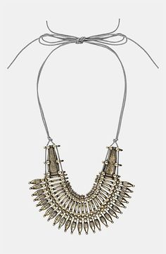 I bought almost identical in Target for $12 :)    Topshop 'Warrior' Collar Necklace available at #Nordstrom