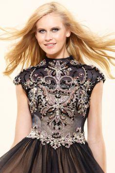 Terani Couture P3024 Двухцветное выпускное платье