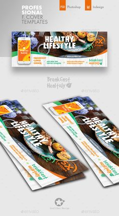 Buy Healthy Food Cover Templates by grafilker on GraphicRiver. Healthy Food Cover Templates Fully layered INDD Fully layered PSD 300 Dpi, CMYK IDML format open Indesign or late. Postcard Template, Cover Template, Food Template, Facebook Cover Design, Facebook Timeline Covers, Free Banner Templates, Creative Flyer Design, Social Media Template, Fb Covers