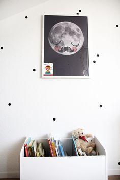 nursery baby room kids room book bin finde little day moon poster books cyrillus