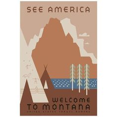 ADZif Welcome To Montana Vintage Advertisement