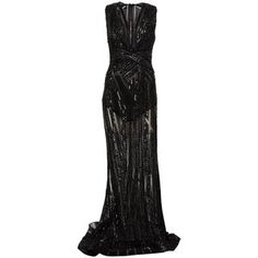 Zuhair Murad Beaded Sheer Gown