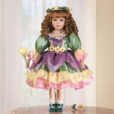 Blossom Spring Porcelain Collectible Doll