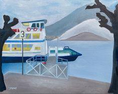 Original Paintings, Original Art, Art Students League, Boat Painting, Winter Painting, Z Arts, Lake Como, Art Day, Home Art