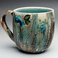 Luba Sharapan - an intriguing blend of traditional floral pattern and traditional pottery flow patterns - I like it!
