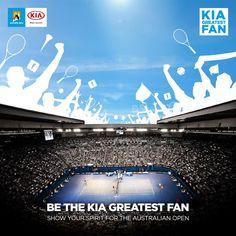 Werde der #KiaGreatestFan für die Australian Open! Wir freuen uns auf deinen Einsatz und deinen Enthusiasmus für das Turnier.  Zeig deine Unterstützung für die Spieler und das Tennis allgemein indem du dein Foto in den Kommentaren postest!  Mehr Infos hier: http://www.kia.com/worldwide/australian-open/
