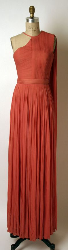 Evening Dress, Madame Grès (Alix Barton) (French, Paris 1903–1993 Var region): ca. 1967, French, silk.