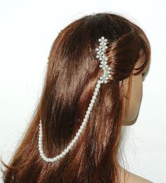 Hey, I found this really awesome Etsy listing at https://www.etsy.com/listing/177131305/bridal-pearl-hair-comb-slide-vintage