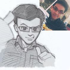 Illustrator Turns Strangers Into Anime Characters Cartoon Sketches, Cartoon Styles, Art Sketches, Art Drawings, Couple Drawings, Drawing Faces, Manga Drawing, Drawing Tips, Pencil Drawings