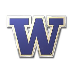 NCAA Washington Huskies Floating Logo Hoop Earrings