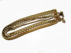 Vintage Signed HATTIE CARNEGIE Goldtone Chains by sobejeweled, $75.00