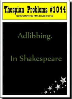 Thespian Problems http://www.TheMysteryShop.com