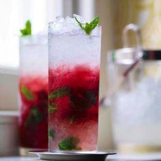 'Blackcurrant mojito', rum cocktail: http://www.waitrose.com/content/waitrose/en/home/recipes/recipe_directory/b/blackcurrant_mojito.html