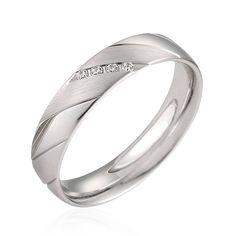 Alliance de mariage or blanc et diamants  Yvana