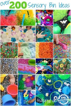 Over 200 sensory bin ideas for preschoolers.