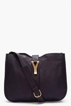 Yves Saint Laurent Medium Black Chyc Shoulder Bag