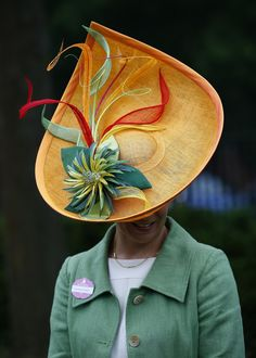Racegoer Susan Leuchars arrives for Ladies' Day at the Royal Ascot horse racing festival at Ascot