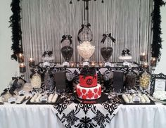 """Black and White / Birthday """"40th Birthday Party"""" 