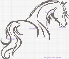 Beautiful Horse Chart ~ free Horse cross stitch