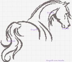 Beautiful Horse Chart ~ free Horse cross stitch