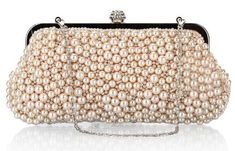 Champagne pearl evening bag