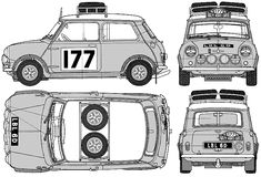 Austin Mini Cooper S 1275 Rally templates views
