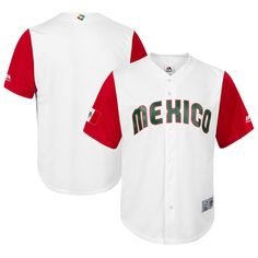 Mexico Baseball Majestic Youth 2017 World Baseball Classic Cool Base Replica Team Jersey - White/Red - $44.99
