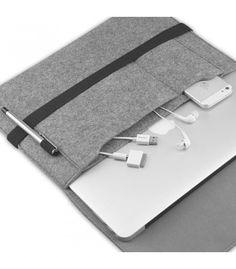 EasyAcc 13.3 inch MACBOOK PRO RETINA Felt Sleeve Carrying bag Ultrabook Laptop bag for Apple Macbook Pro Retina - Grey (NOT FOR MACBOOK PRO) (Dimension:330 mm x 230 mm x 6 mm)