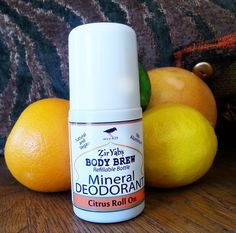 Citrus Mineral Deodorant Roll On Vegan by ZirYabsBodyBrew Magnesium Hydroxide, Calcium Carbonate, Martha Stewart, Fresco, Citrus Essential Oil, Skin Care Routine Steps, Extra Virgin Coconut Oil, Fractionated Coconut Oil, Minerals