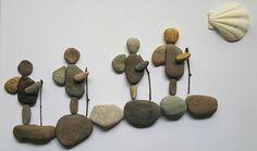 pebbles art of hikers…