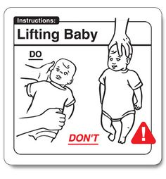 Safe baby handling book. An absolutely hilarious guide to parenting. http://bumpandbunny.com/collections/wry-baby