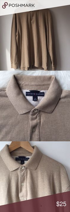 Tommy Hilfiger Men's Long Sleeve Polo Shirt -Tommy Hilfiger Men's Long Sleeve Polo Shirt Size L. -Excellent pre owned condition. -100% Cotton. Tommy Hilfiger Shirts Polos