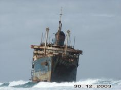American Star ship wreck, I love this one because it looks like its going to crash into shore even after years of sitting there.