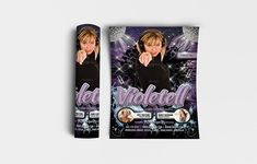 """Violetell Flyer Template Features • Size: 1275×1875px (4×6"""") Bleeds 0.25"""" • Fully editable + Full layered • Photoshop Version: CS5 or Higher • Resolution: 300dpi • CMYK Colors Notes • Model not included in download file. #abstract #advertise #annual #art #backdrop #background #banner #beauty #blank #blue #booklet #brochure #business #card #ciusanviolet #color #company #concept #corporate #cover #creative #decoration #design #document #dynamic #editable #flyer #geometric #graphic #headline # Flyer Printing, Print Templates, Flyer Template, Backdrops, Photoshop, Concept, Creative, Illustration, Cards"""