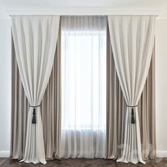 Curtain With Wood Hiding Track Media Room Home For