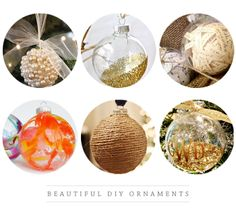 DIY ornament collection - ♡ the Pearl and monogram ( I made the bottom middle one last year before ever seeing this.