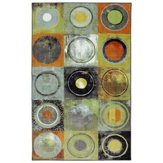 Mohawk Home New Wave Circle Fret Indoor Area Rug - 12360 416 060096