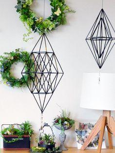 ご感想書いて下さいました。 の画像 ヒンメリのおか Handmade Ornaments, Handmade Christmas, Straw Crafts, Narrow House, Loft Design, Crafts To Do, Home Accents, Plant Hanger, Diy Tutorial