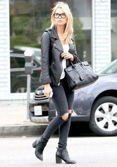 ashley benson look calça street style óculos